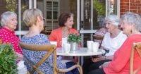 senior group chatting