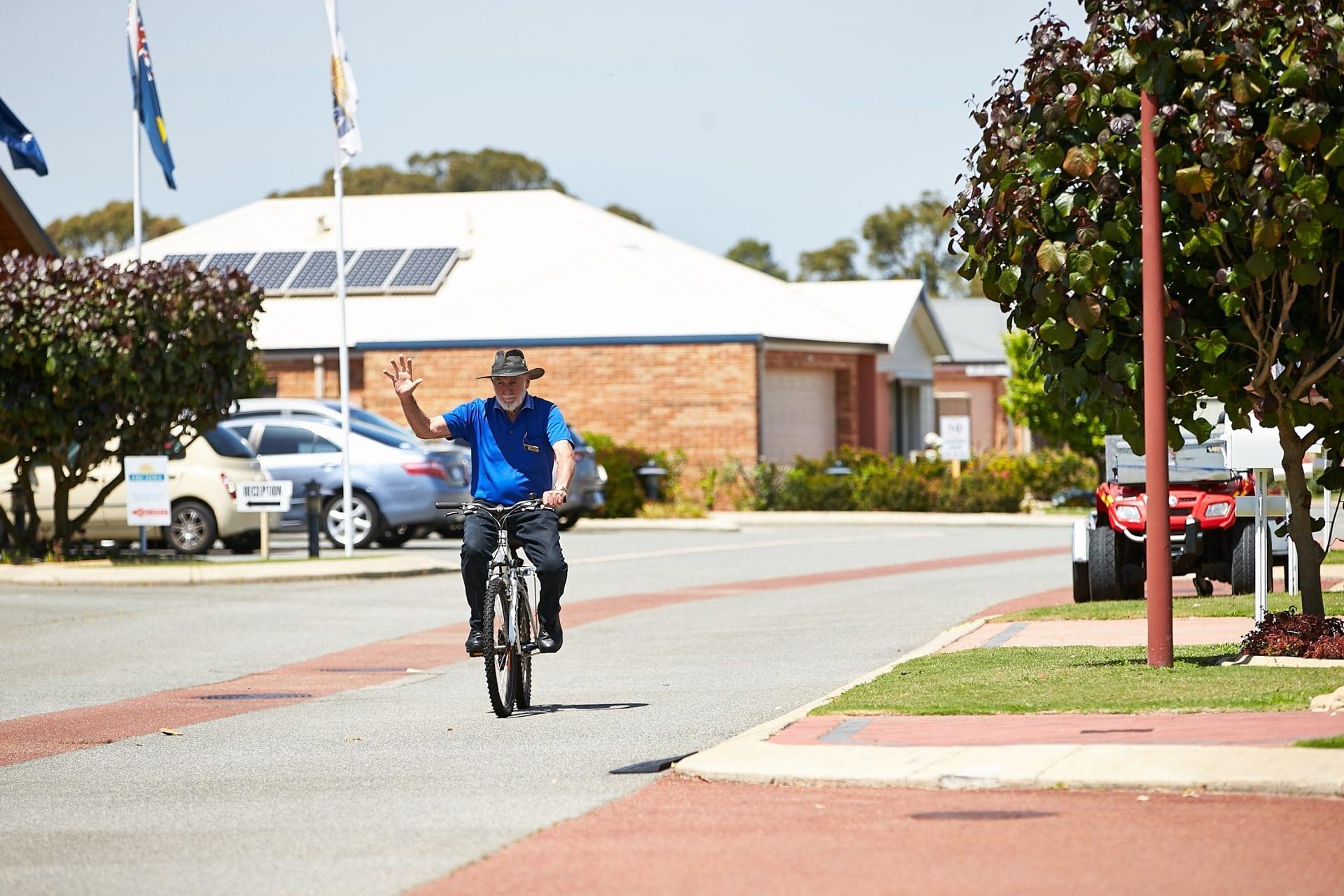 Mandurah resident on bike