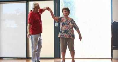 retirement village residents dancing