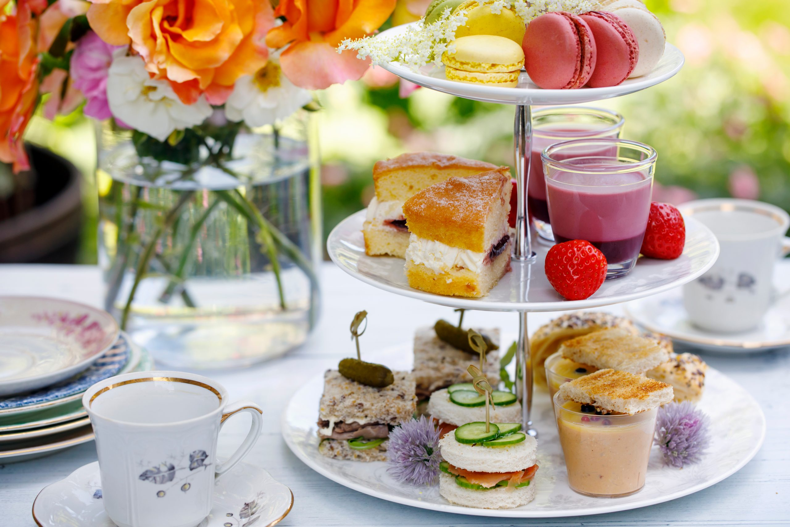 Join us for high tea in the gardens at The Beaumont.